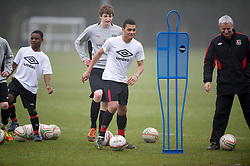 CARDIFF, WALES - Thursday, March 15, 2012: Wales U16's Alex Penny (Hull City FC & Withernsea High School) during a training session at the Glamorgan Sports Park. (Pic by David Rawcliffe/Propaganda)