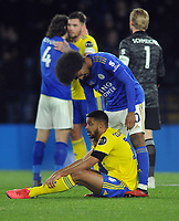 Football - 2019 / 2020 Emirates FA Cup - Fifth Round: Leicester City vs. Birmingham City<br /> <br /> Hamza Choudhury of Leicester consoles Jake Clarke - Slater after the match, at the King Power Stadium.<br /> <br /> COLORSPORT/ANDREW COWIE
