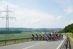 The peloton head into the hills around Gera at Lotto Thuringen Ladies Tour 2018 - Stage 4, a 118 km road race starting and finishing in Gera, Germany on May 31, 2018. Photo by Sean Robinson/Velofocus.com