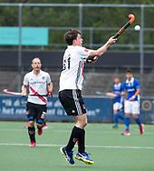 AMSTELVEEN -  Fergus Kavanagh (A'dam)    tijdens  de  eerste finalewedstrijd van de play-offs om de landtitel in het Wagener Stadion, tussen Amsterdam en Kampong (1-1). Kampong wint de shoot outs.   COPYRIGHT KOEN SUYK