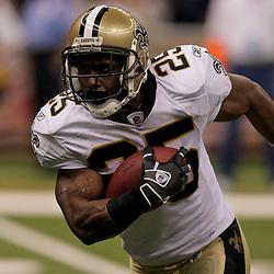 2009 September 13: New Orleans Saints running back Reggie Bush (25) runs with the ball during a 45-27 win by the New Orleans Saints over the Detroit Lions at the Louisiana Superdome in New Orleans, Louisiana.