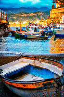 """The primitive fishing boat anticipates the Sorrentino sunset at Marina Grande""..."