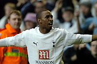 Photo: Olly Greenwood.<br />Tottenham Hotspur v Wigan Athletic. The Barclays Premiership. 26/11/2006. Tottenham's Jermanine Defoe celebrates scoring