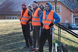 CZECH REPUBLIC VYSOCINA NEDVEZI 31DEC15 - Traditional football match between the single and married men in the village of Nedvezi, Vysocina, Czech Republic.<br /> <br /> jre/Photo by Jiri Rezac<br /> <br /> © Jiri Rezac 2015