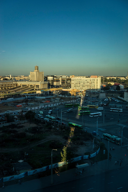 A view of the city on Thursday, September 15, 2016 in Minsk, Belarus.