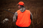 Republican presidential candidate Rick Santorum wades through the deep grass while participating in the Col. Bud Day Pheasant Hunt hosted by Congressman Steve King outside of Akron, Iowa on October 31, 2015.