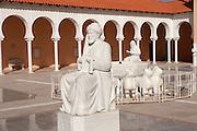 Israel, Caesarea, Ralli Museum of modern art Statue of Ibn Gvirol