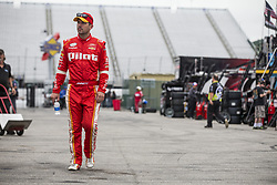 July 14, 2017 - Loudon, NH, United States of America - July 14, 2017 - Loudon, NH, USA: Michael Annett (5) hangs out in the garage during practice for the Overton's 200 at New Hampshire Motor Speedway in Loudon, NH. (Credit Image: © Justin R. Noe Asp Inc/ASP via ZUMA Wire)