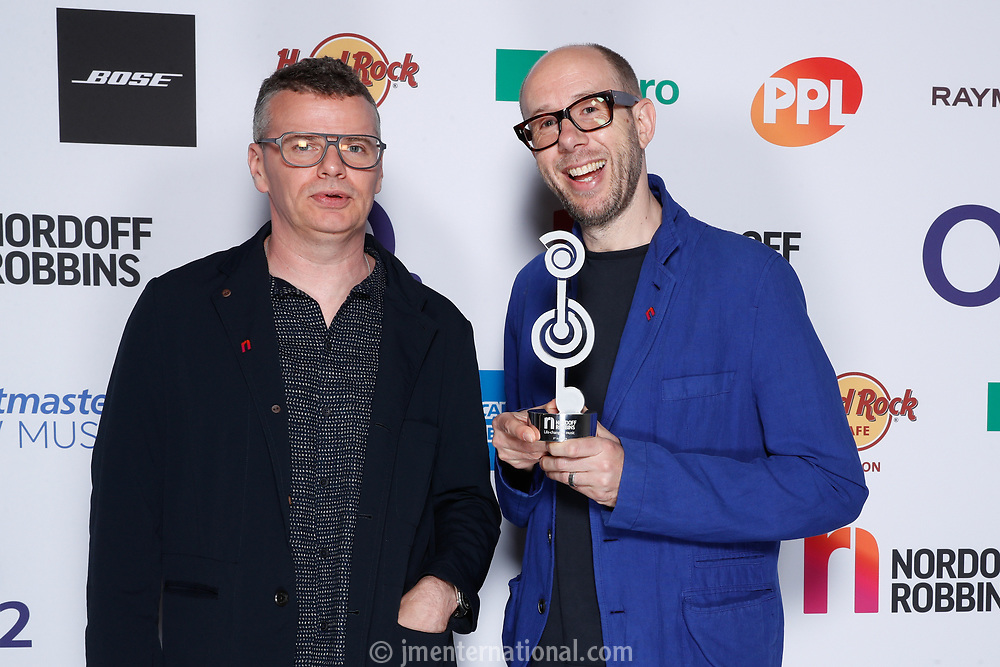 The Chemical Brothers attemd the O2 Silver Clef Awards 2019, Grosvenor House, London, UK, Friday 05 July 2019<br /> Photo JM Enternational