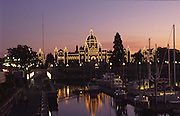 Twilight, Parliment Building, Victoria, B.C., Canada<br />
