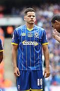 Connor Smith defender for AFC Wimbledon (18) before the Sky Bet League 2 play off final match between AFC Wimbledon and Plymouth Argyle at Wembley Stadium, London, England on 30 May 2016. Photo by Stuart Butcher.