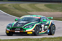 Jake Giddings (GBR) / Kieran Griffin (GBR)  #47 JW Bird Motorsport  Aston Martin V8 Vantage GT4  Aston Martin 4.7L V8,  British GT Championship at Rockingham, Corby, Northamptonshire, United Kingdom. April 30 2016. World Copyright Peter Taylor/PSP.
