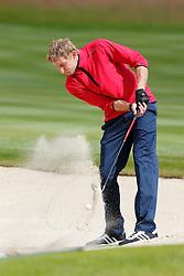 25.06.2014, Golf Club Gut Laerchenhof, Pulheim, GER, BNW International Golf Open, im Bild Stefan Kiessling (Bayer 04 Leverkusen) mit einem Schlag aus dem Bunker // during the International BMW Golf Open at the Golf Club Gut Laerchenhof in Pulheim, Germany on 2014/06/25. EXPA Pictures © 2014, PhotoCredit: EXPA/ Eibner-Pressefoto/ Schueler<br /> <br /> *****ATTENTION - OUT of GER*****