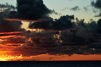 Pacific Ocean Sunrise Panorama viewed from the aft deck of the MV World Odyssey. Image 17 of 20 taken with a Nikon 1 V3 camera and 70-300 mm VR lens (ISO 200, 82 mm, f/8, 1/250 sec). Raw images processed with Capture One Pro and the panorama created using AutoPano Giga Pro.
