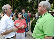 Kettering Mayor Don Patterson (right) chats with folks during the 21st annual The Taste in the Lincoln Park Commons area at the Fraze Pavilion, Thursday, September 3, 2009.