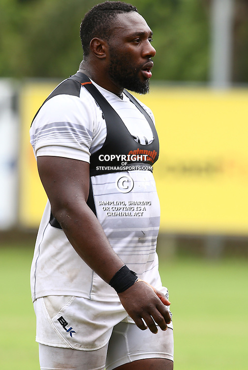 DURBAN, SOUTH AFRICA - JANUARY 13: Tendai Beast Mtawarira during the Cell C Sharks training session at Growthpoint Kings Park on January 13, 2017 in Durban, South Africa. (Photo by Steve Haag/Gallo Images)