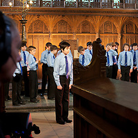 Around 400 boys from The National Youth Choir of Scotland, including The National Boys Choir and area choirs from all over Scotland took part in a recording for Songs of Praise by the BBC on Saturday 5th May at Dunblane Cathedral. The National Youth Choir of Scotland is conducted by NYCoS Artistic Director, Christopher Bell..Picture  © Drew Farrell..www.drewfarrell.com    Tel :  07721-735041.If you require any more information please contact Vicky Tibbett @The National Youth Choir of Scotland Tel : 0141 287 2856 . Note to Editors:  This image is free to be used editorially in the promotion of The National Youth Choir of Scotland. Without prejudice ALL other licences without prior consent will be deemed a breach of copyright under the 1988. Copyright Design and Patents Act and will be subject to payment or legal action, where appropriate..