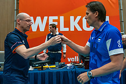 12-06-2019 NED: Golden League Netherlands - Estonia, Hoogeveen<br /> Fifth match poule B - The Netherlands win 3-0 from Estonia in the series of the group stage in the Golden European League / Coach Roberto Piazza of Netherlands, Head Coach Gheorghe Cretu of Estonia