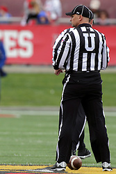 03 October 2015:  Umpire Edward Laco. NCAA FCS Football between Northern Iowa Panthers and Illinois State Redbirds at Hancock Stadium in Normal IL (Photo by Alan Look)