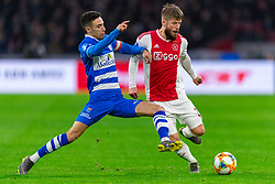 13-03-2019 NED: Ajax - PEC Zwolle, Amsterdam<br /> Ajax has booked an oppressive victory over PEC Zwolle without entertaining the public 2-1 / Lasse Schone #20 of Ajax, Younes Namli #21 of PEC Zwolle