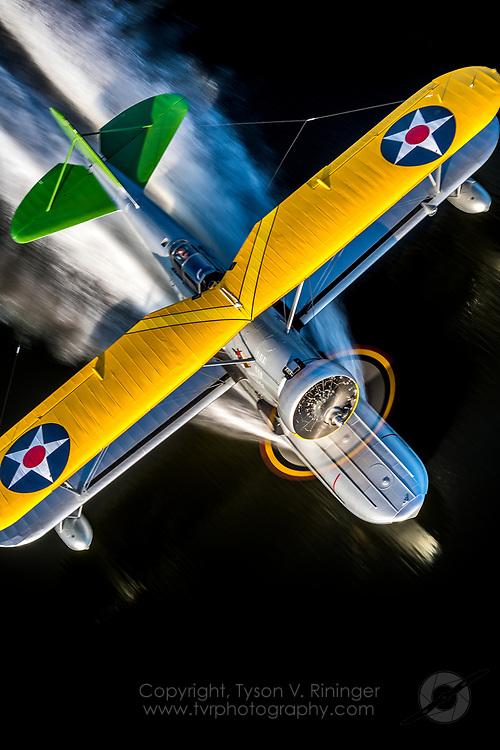 Kelly Mahon flies the Mid America Flight Museum's J2F-4 Grumman Duck near Mt. Pleasant, TX.