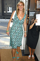 TANIA BRYER at a party to launch the Acqualuna jewellery exhibition at Allegra Hicks, 28 Cadogan Place, London on 22nd June 2005.<br />