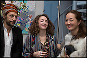 BENOIT PEVERILL; ANNA KLOSSOWSKI; HARUMI KLOSSOWSKA, James Franco exhibition 'Fat Squirrel' at Siegfried Contemporary, Basset Rd, London W10. 23 November 2014.