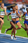 Natoya Goule (JAM) places second in the women's 800m in 1:58.59 during the Meeting de Paris, Saturday, Aug. 24, 2019, in Paris. (Jiro Mochizuki/Image of Sport via AP)
