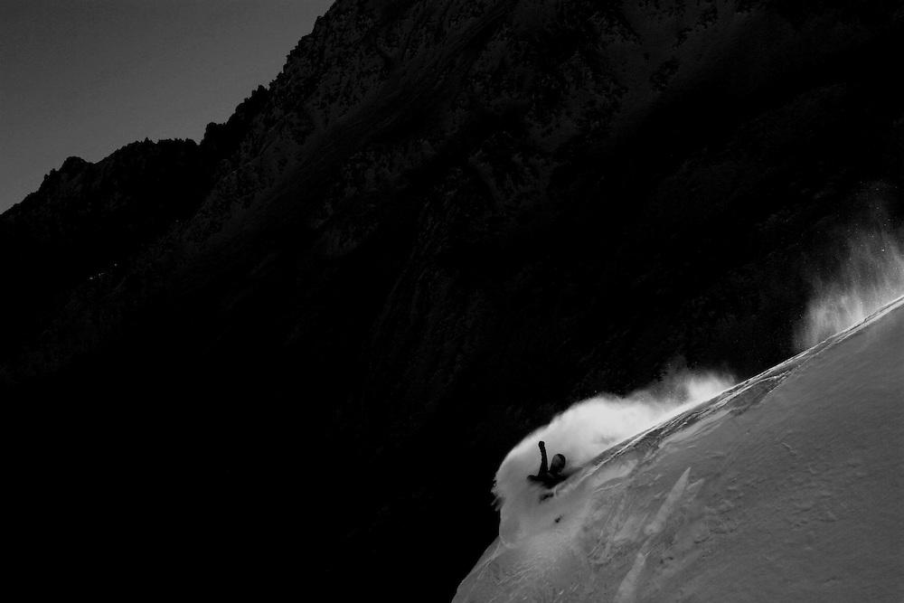 Rider: Xavier Jordan.Location: Vallorcine (French)