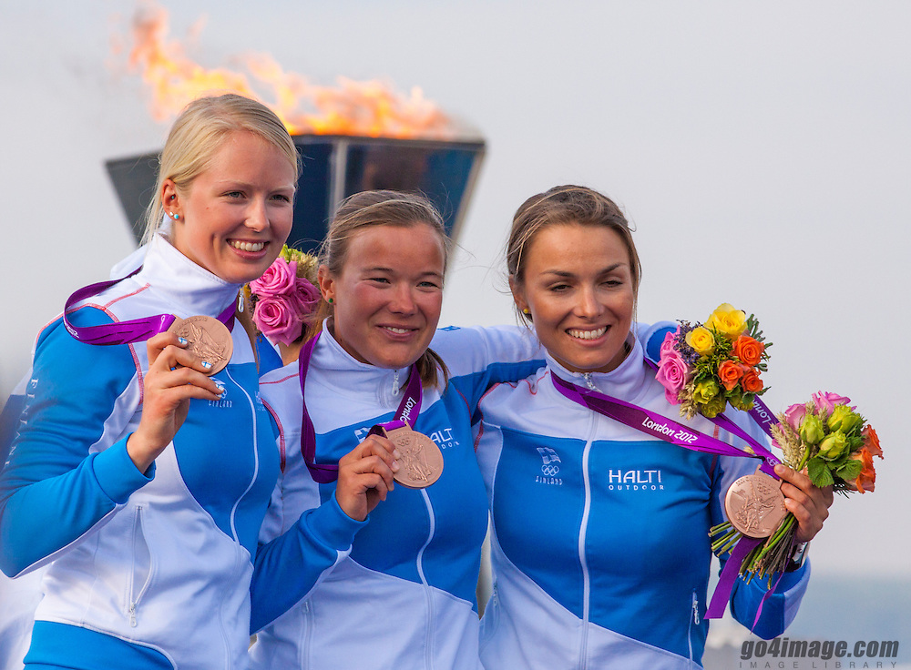 BRONZE:<br /> Kanerva Silja, Wulff Mikaela, Lehtinen Silja, (FIN, Match Race)<br /> <br /> 2012 Olympic Games <br /> London / Weymouth