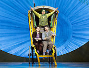 The Wind in the Willows<br /> by Kenneth Grahame adapted by Julian Fellowes with George Stiles and Anthony Drewe <br /> at London Palladium <br /> London, Great Britain <br /> Press photocall <br /> 22nd June 2017 <br /> <br /> Rufus Hound as Mr Toad <br /> <br /> Craig Mather as Mole <br /> <br /> Simon Limpkin as Rat <br /> <br /> <br /> <br /> <br /> Photograph by Elliott Franks <br /> Image licensed to Elliott Franks Photography Services