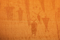 Barrier style pictographs at Alcove gallery site, Horseshoe Canyon, Canyonlands National Park Utah
