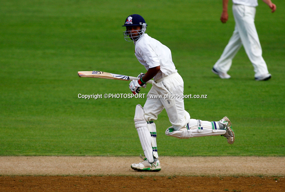 Jeet Raval in action on his way to 200, State Championship cricket, Auckland Aces v Central Stags, Eden Park Outer Oval, Auckland. 30 March 2009. Photo: William Booth/PHOTOSPORT