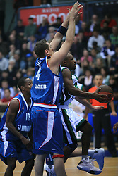 Best Travis (8) at Euroleague match between KK Cibona and Air Avellino, on November 26, 2008, in Cibona Tower, Zagreb, Croatia. Match was won by Cibona 82:79. (Photo by Vid Ponikvar / Sportida)
