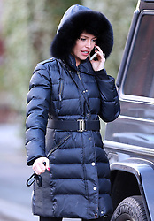 Pregnant model Abbey Clancy out and about on a chilly day in north London, UK. 16/01/2015<br />BYLINE MUST READ : JAMESY/GOTCHA IMAGES<br /><br />Copyright by © Gotcha Images Ltd. All rights reserved.<br />Usage of this image is conditional upon the acceptance <br />of Gotcha Images Ltd, terms and conditions available at<br />www.gotchaimages.com