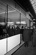 22/10/1963<br /> 10/22/1963<br /> 22 October 1963<br /> R.D.S. Scientific Exhibition opens. Bord na Mona stand at the exhibition. Taoiseach Sean Lemass (centre) with Mr. D.C. Lawlor, Managing Director, Bord na Mona (left).