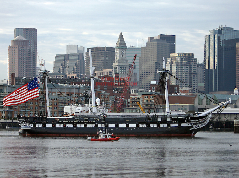 (10/21/09-Boston,MA) The turn-around of the U.S.S Constitution Mark Garfinkel photo
