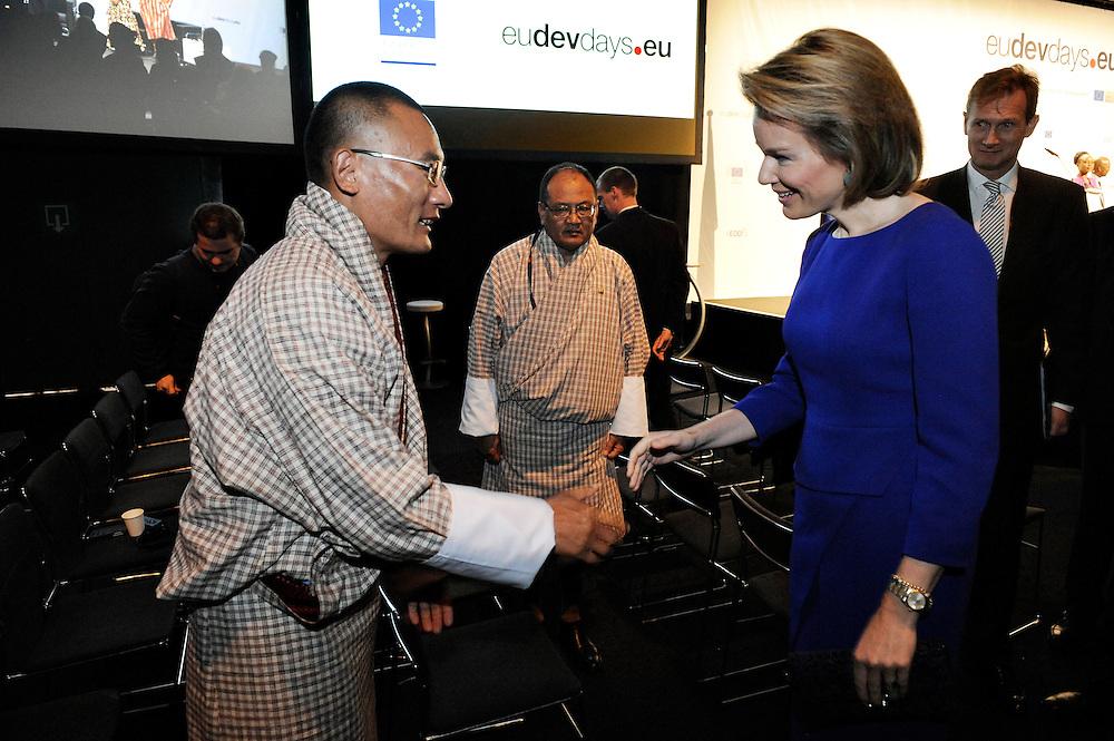 20150604- Brussels - Belgium - 04 June2015 - European Development Days - EDD  - Queen Mathilde of Belgium meets Tshering Tobgay PM Bhutan  © EU/UE