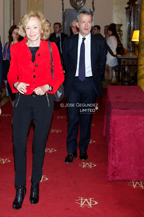 Maria Teresa Fernandez de la Vega attends the presentation of Barbara Hendricks' Memories, 'In Own Voice (En propia voz)' at Casino de Madrid on May 23, 2013 in Madrid