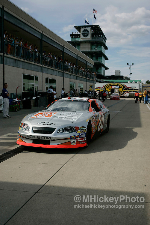 Tony Stewart heads back out to the track for practice for the Brickyard 400