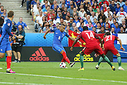 France Midfielder Dimitri Payet attacks during the Euro 2016 final between Portugal and France at Stade de France, Saint-Denis, Paris, France on 10 July 2016. Photo by Phil Duncan.