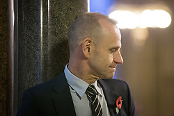 © Licensed to London News Pictures . 03/11/2014 . Manchester , UK . Newsnight presenter EVAN DAVIS at Manchester Town Hall ahead of an interview . Photo credit : Joel Goodman/LNP