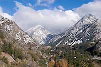 Mount Baldy Village First Winter Snow, Angeles National Forest, California