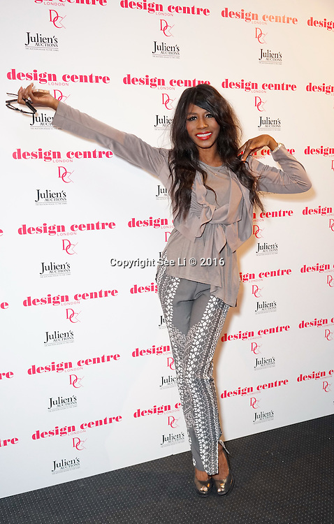 London,England,UK : 25th May 2016 : Singer Sinitta teams attend the Marilyn Monroe: Legacy of a Legend launch at the Design Centre, Chelsea Harbour, London. Photo by See Li