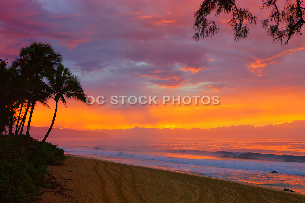 Sunset on Oahu's North Shore