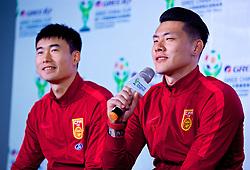 NANNING, CHINA - Saturday, March 24, 2018: China's Wang Dalei during a meet & greet event at the Nanning Wanda Mall during the 2018 Gree China Cup International Football Championship. (Pic by David Rawcliffe/Propaganda)