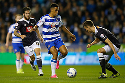 Reading's Nick Blackman puts Derby County under pressure - Mandatory by-line: Jason Brown/JMP - Mobile 07966 386802 15/09/2015 - SPORT - FOOTBALL - Reading, Madejski Stadium - Reading v Derby County - Sky Bet Championship