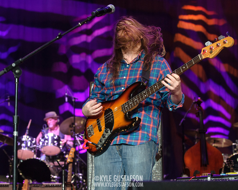 COLUMBIA, MD - May 14, 2015 - Reed Mathis and Bill Kreutzmann of Billy & the Kids perform during the Dear Jerry: Celebrating the Music of Jerry Garcia concert at Merriweather Post Pavilion in Columbia, MD. (Photo by Kyle Gustafson / For The Washington Post)