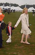 Cate Blanchett and her son Dashiel Upton. Cartier International Day at Guards Polo Club, Windsor Great Park. July 24, 2005. ONE TIME USE ONLY - DO NOT ARCHIVE  © Copyright Photograph by Dafydd Jones 66 Stockwell Park Rd. London SW9 0DA Tel 020 7733 0108 www.dafjones.com