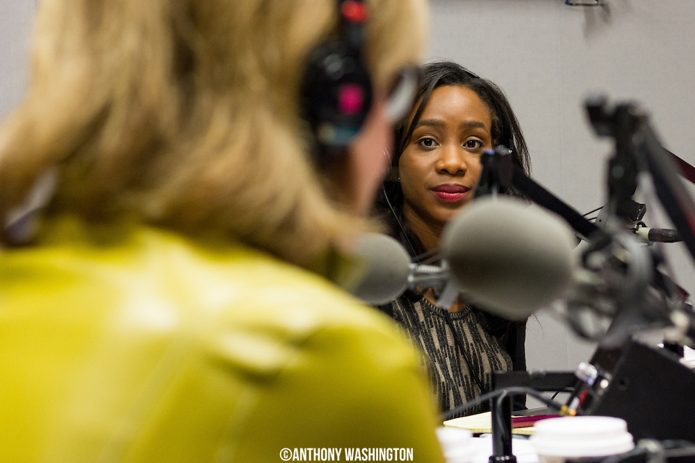 Abby Phillip, National Reporter for the Washington Post, looks on as Susan Page, Washington Bureau Chief/USA Today, answers a question during the last The Diane Rehm Show on Friday, December 23, 2017 at WAMU 88.5 in Washington, DC.